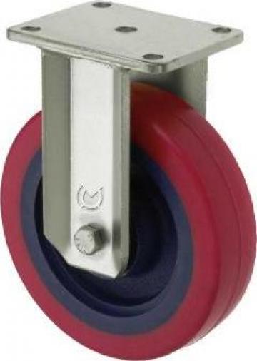 Roata fixa diametru 100 mm poliuretan elastic
