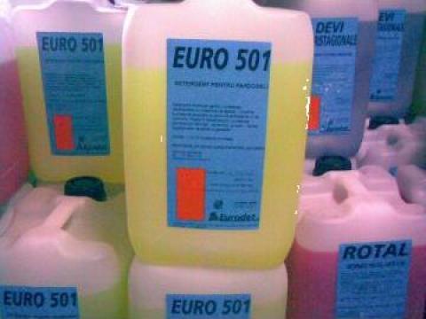 Detergent concentrat parfumat de pardoseli Euro 501 Lemon de la Tehnic Clean System