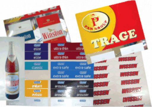 Etichete autocolant din pvc si hartie