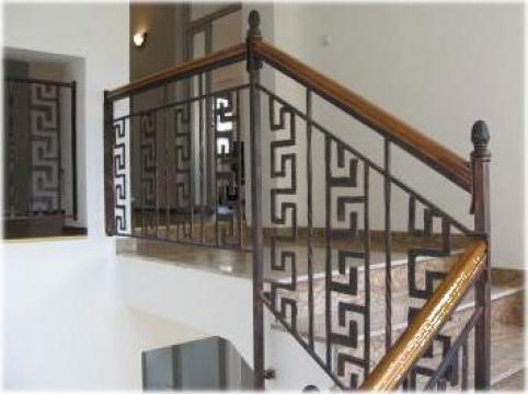 Balustrada din fier forjat pentru scara de la Adveltis Srl