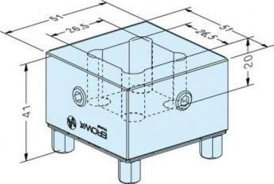 Sisteme de fixare pentru uzinare electrod masiv Erowa