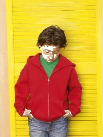 Imbracaminte pentru copii Kids Zip Thru Hooded de la Sc Stil Media Srl