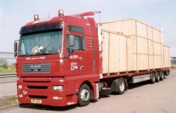 Transport marfa camioane fara prelata