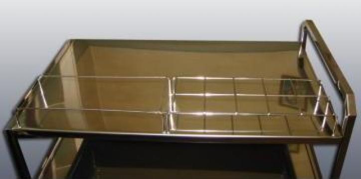 Carucior din inox pentru instrumentar