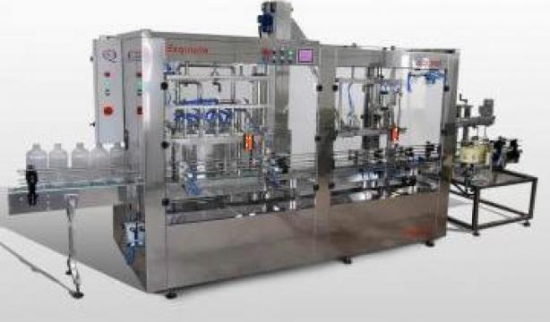 Instalatie de imbuteliat lichide in recipiente 3-10 l