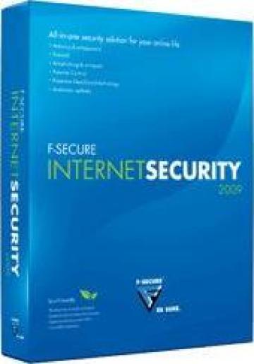 Antivirus F-Secure Internet Security 2009 pt 3 calculatoare de la Eurodata Serv