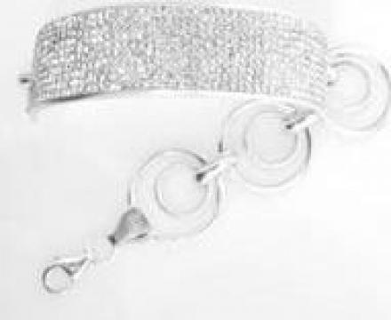 Bratara argint cu cristale Swarovski de la Deea Deluxe