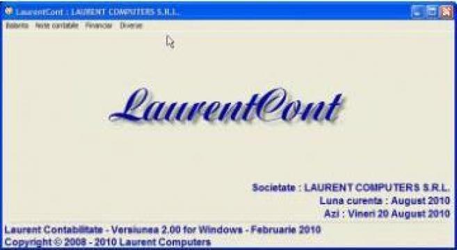 Program software contabilitate online LaurentCont