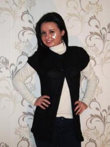 Jacheta neagra din tricot de la Fashion Addict