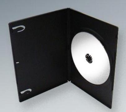 Carcasa DVD Slim neagra de la Top Production Srl