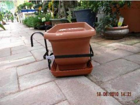 Suport jardiniera 40 cm cu agatatori de la Maric Com Service