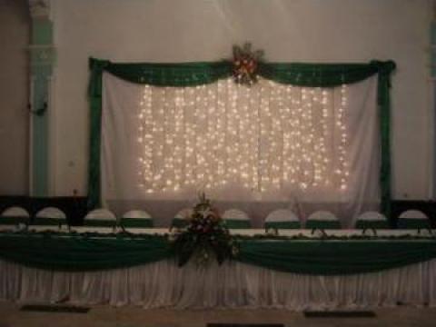 Decoratiuni saloane de nunti in Baile Herculane, imprejurimi de la Momente De Vis Srl