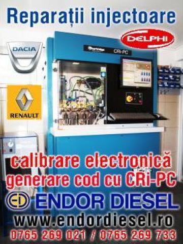 Reparatii injectoare Delphi: Logan, Renault, Ford (cu cod) de la Endor Diesel
