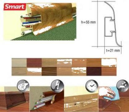 Plinta PVC parchet Smart, accesorii plinte PVC de la Sc Oritex Srl