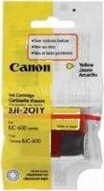 Cartus Imprimanta Cerneala Original CANON BJI-201Y de la Green Toner