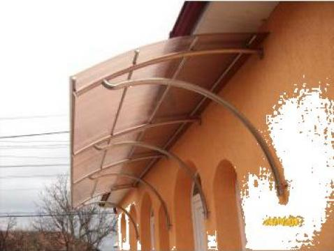 Copertina terasa inox cu policarbont