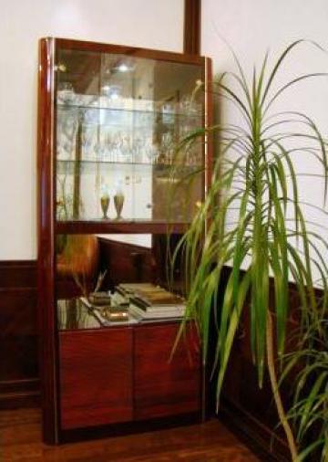 Set mobilier birou directorial lemn masiv lacuit de la Consulting International