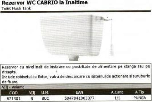 Rezervor WC Cabrio de la Idm Dinamic Srl