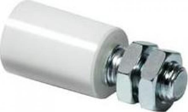 Role teflon (nylon) cu ax zincat porti culisante de la Sc Oritex Srl