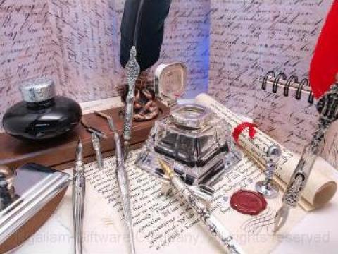 Set cadou instrumente de scris retro de la Carlos Impex 2000 Srl