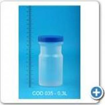 Borcan din plastic inalt la 0,3 l