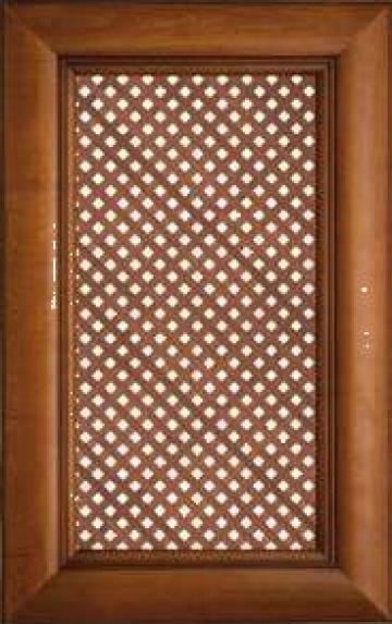 Front mobilier din lemn masiv - cu grilaj
