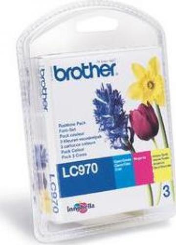 Cartus imprimanta cerneala Original Brother LC970RBWBP de la Green Toner