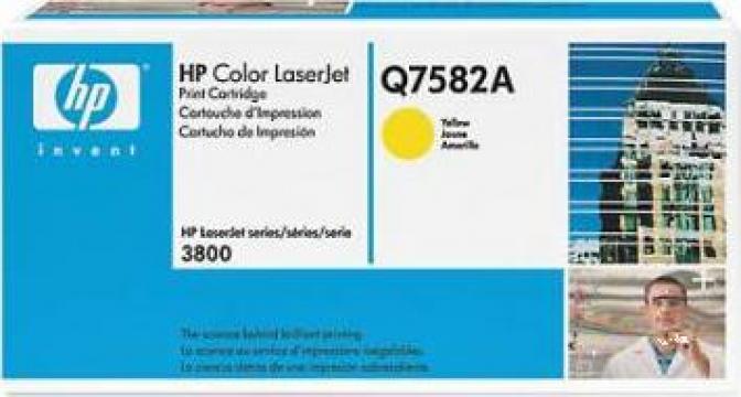 Cartus Imprimanta Laser Original HP Q7582A de la Green Toner