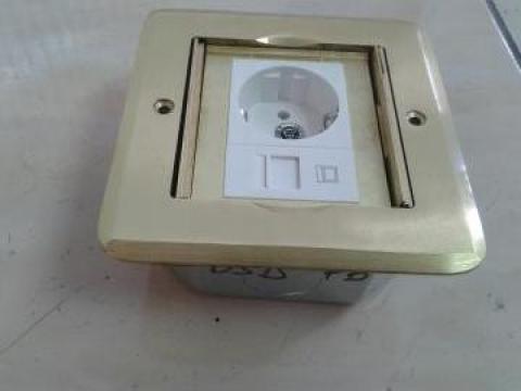 Clapa metalica pardosela 3 module - culoare auriu de la Niedax Srl