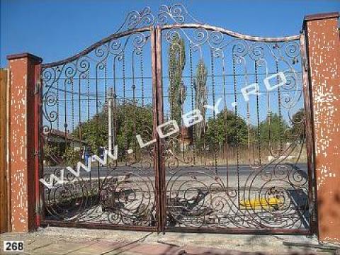 Poarta, gard si portita din fier forjat Poseidon de la Loby Design