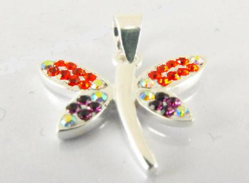 Pandant din argint 925 cristale Swarovski fluturas de la Dasinu
