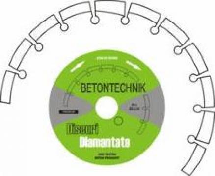 Disc diamantat pentru beton vechi armat de la Baza Tehnica Alfa Srl