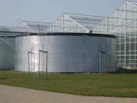 Rezervor metalic pentru stocare apa de la Reiberbau Srl