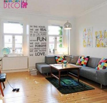 Autocolant decorativ pentru perete Mesaj de iubire de la Happy - Hippo Deco