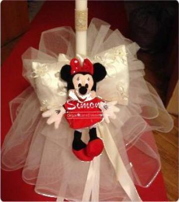 Lumanare botez Minnie Mouse de la Simonne