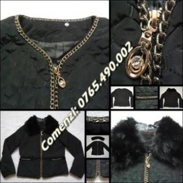 Jacheta matlasata de dama cu lant Chanel