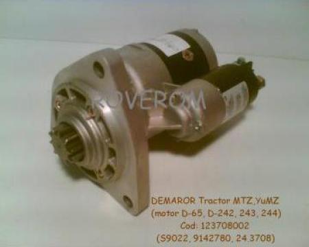 Demaror (12V, Z=10) cu reductor, tractor MTZ, YuMZ