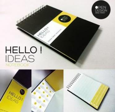 Caiet Notes personalizat de la Open Design&Print