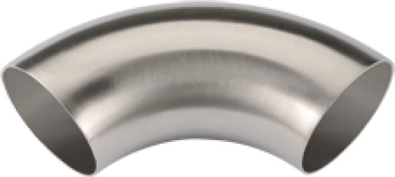 Coturi din inox sudate longitudinal la unghi de 90 si 45gr. de la MRG Stainless Group Srl