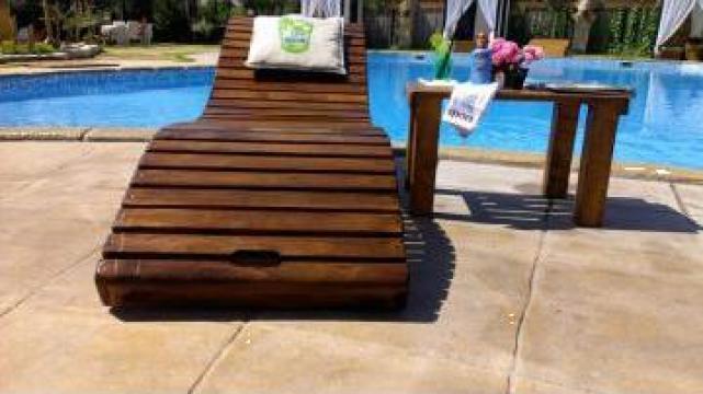 Sezlong lemn de la Curacao Pools Srl