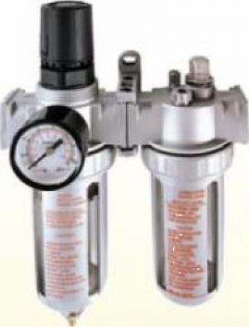 "Filtru aer regulator si lubrificator 1/ 2"" 10 bar de la Zimber Tools"