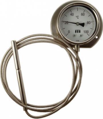 Termometre inox cu capilar de la Vannes Europe Srl