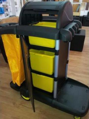 Carucior hotelier cu sertare si sac de 100litri de la Tehnic Clean System