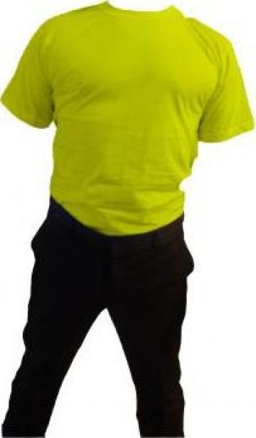 Tricou galben cu maneca scurta de la Johnny Srl.