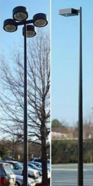 Stalp iluminat metalic 6-12m teava sudata de la Rezmat