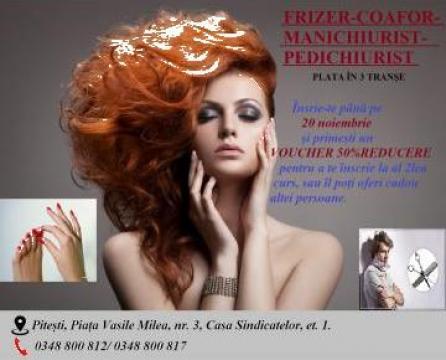 Curs frizer, coafor, manichiurist, pedichiurist de la Centrul Educational De Formare Continua ATP 2013