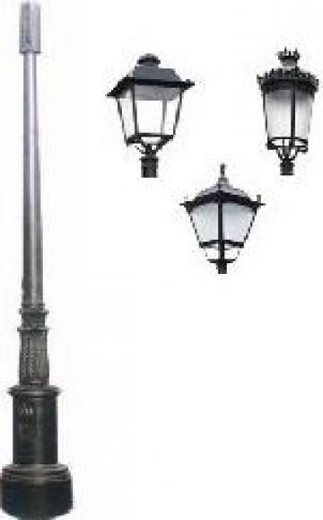 Stalp iluminat ornamental clasic fonta PLGFO13 de la Palagio System Group