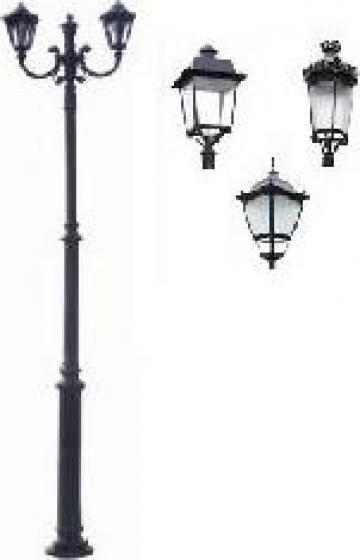 Stalp iluminat ornamental clasic fonta PLGFO6 de la Palagio System Group