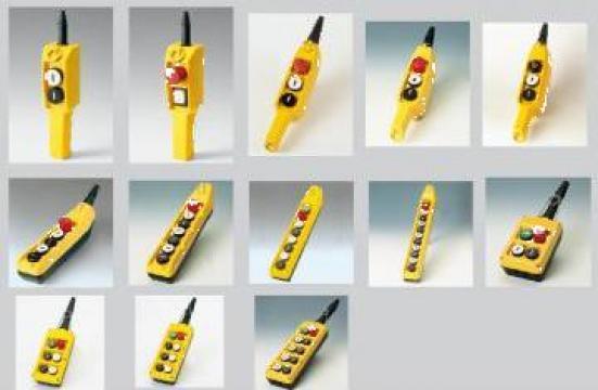 Cutii cu butoane pentru circuite de control palane
