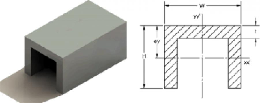 Profil aluminiu U de la Metal DM Automotive Srl